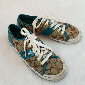 Coach Fillmore size 7 1/2 canvas/leather sneakers
